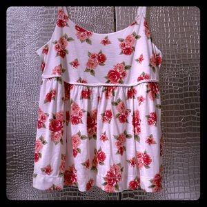 Torrid 2 Baby Doll Rose Print Tank Top NWT